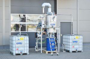 Reciclaje de disolventes para máquinas de impresión flexográfica