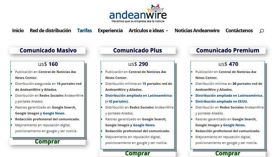 AndeanWire incluirá Google News en todos sus planes y aumenta su red de medios
